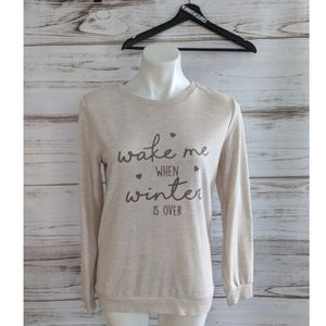 Wake Me When Winter is Over Sleep Shirt sz 6/8